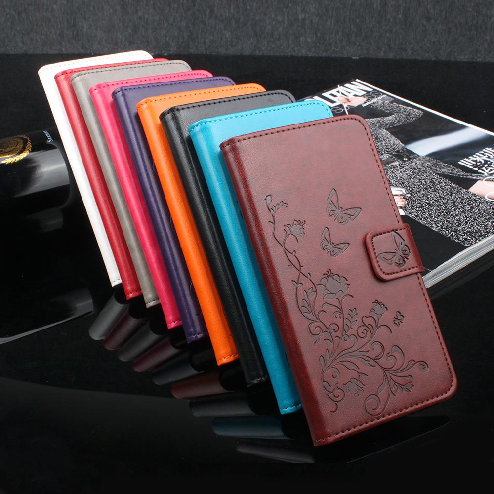 Homtom HT16 Case Flip PU+Plastic Holder Inner Wallet Magnetic Butterfly Pattern Vintage Floral Case Homtom HT16