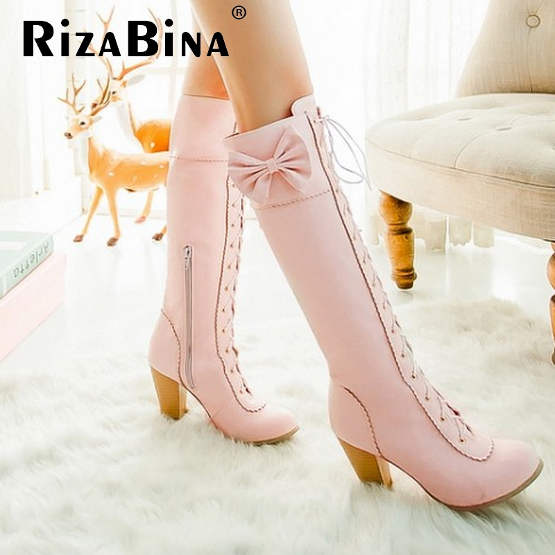 women high heel over knee boots boot riding snow warm winter botas masculina cross strap brand footwear shoes P20451 size 34-43 <br><br>Aliexpress