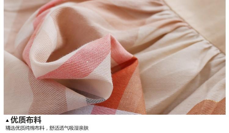 Скидки на 2016 Хлопок дышащий лук полоса письмо вышивка длиной до колен лето абрикос платье случайные девочка одежда 3 4 5 6 8 10 лет
