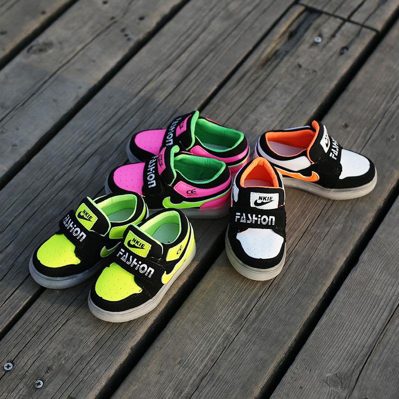 2016 new spring autumn children led shoes girls light