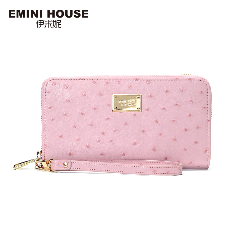EMINI HOUSE 2 Colors New Fashion Genuine Leather Long Women Wallets Zipper Coin Purse Multifunction Clutch Wallets Travel Wallet(China (Mainland))