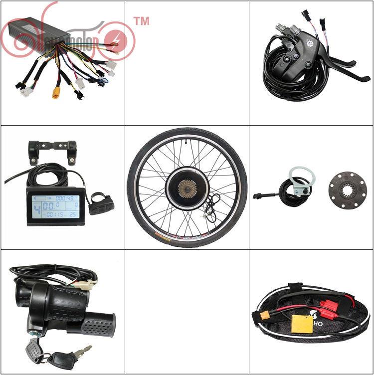 "Free Ebike Conversion Kit 36V 48V 1200W 20"" 24"" 26"" 29"" 700C 28"" Front Rear Motor Wheel Bicicleta Electric Bicycle"
