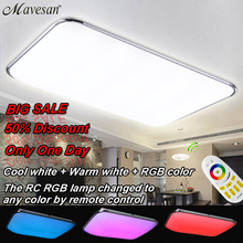 NEW Modern LED Ceiling Light  With 2.4G RF Remote Group Controlled Dimmable Color Changing Lamp For Livingroom Bedroom(China (Mainland))
