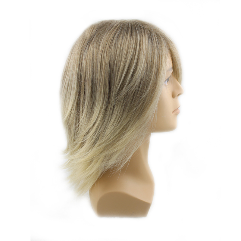 Europe America Style Short Hair Wig Men's Short Male Man Synthetic Hair Mixed Blonde Wigs Cosplay Costome Peruca Pelucas(China (Mainland))