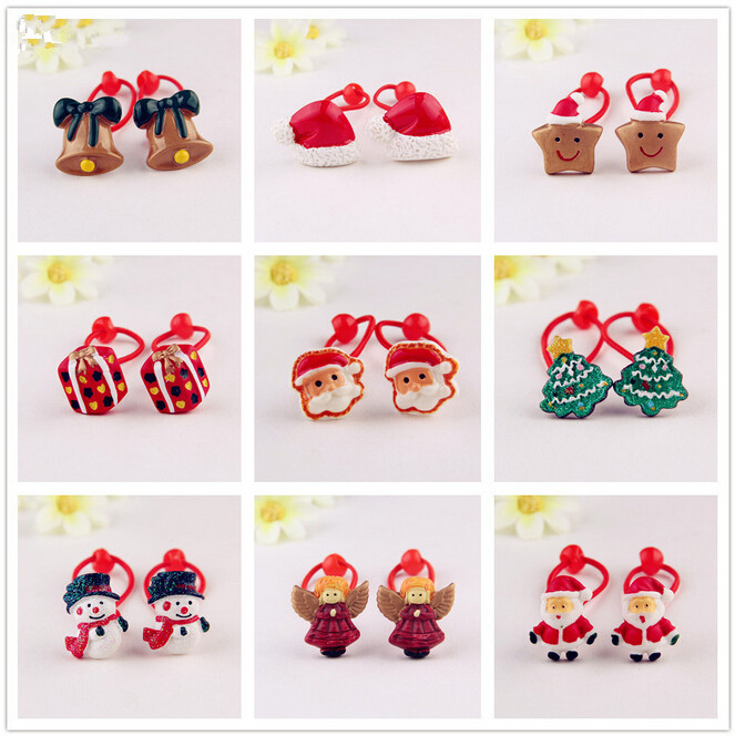 2015 Baby girl's styling tool Christmas gift elastic hiar bands headwear hair accessories for women kids make they cute lovely(China (Mainland))