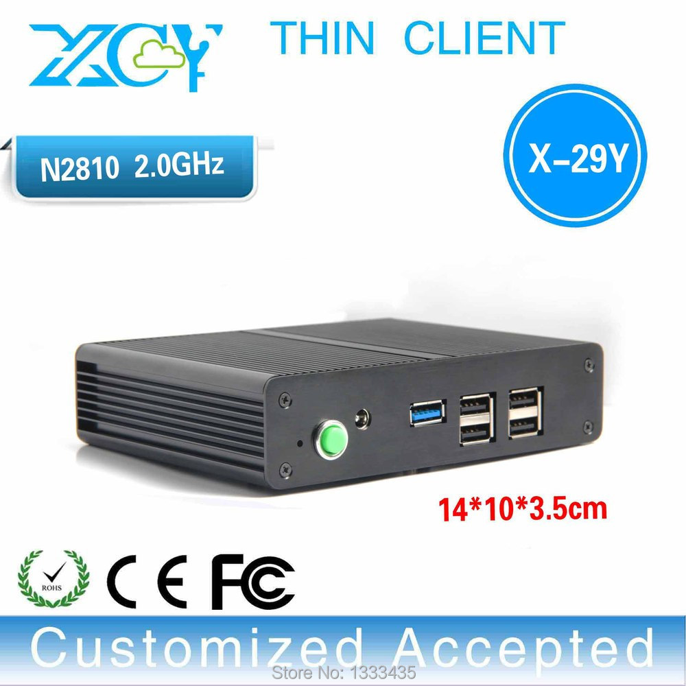 install windows 7 64bit home premium OS Ultra-small thin client pc box X-29y n2810 2.0GHZ Uhost barebone os(China (Mainland))