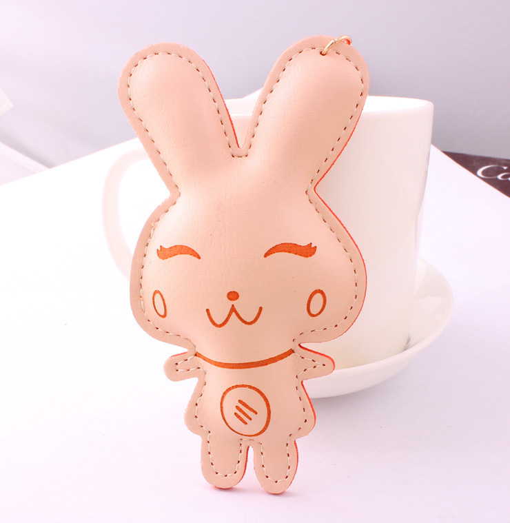 high Quality Keychain Accessories Pendant Leather Bag Tassel Cute Rabbit Manufacturers Wholesale Key Chain Llaveros Survival(China (Mainland))