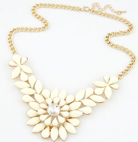 Jewelry Choke Pendants Necklaces New Arrival Flower 4 Colors 2015 Vintage Women Wholesale 2014 Statement Necklace