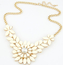 Jewelry Choke Pendants Necklaces New Arrival Flower 4 Colors 2015 Vintage Women Wholesale 2014 Statement Necklace SF09
