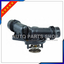 Engine Coolant Thermostat With Housing & Sensor 11537509227 For E39 E46 E53 E83 Z3 Z4 X5 X3 320i 325i 330i 525i 528i