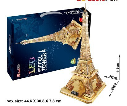 Real 3 d puzzles difficult adult large construction paper model of the Eiffel Tower in Paris(China (Mainland))