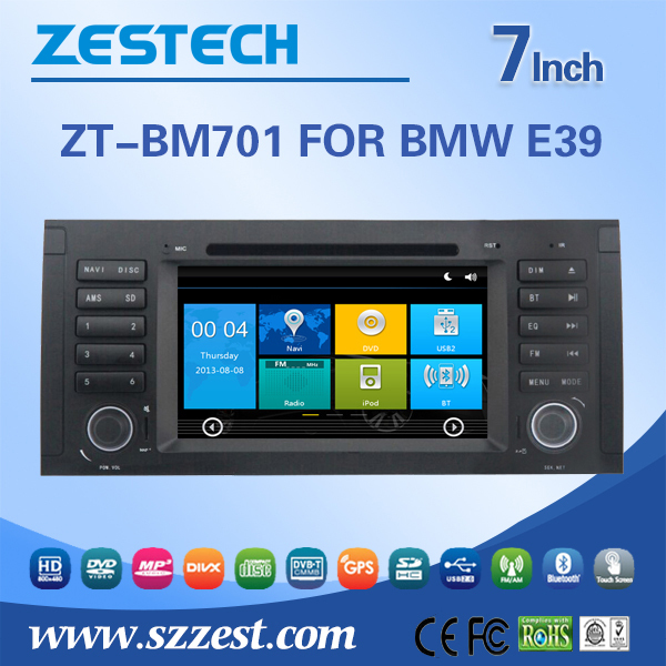 ZESTECH In Dash Touch Screen Car GPS Navigation for BMW E39 5 Series 1996-2003 Provide GPS DVD CD USB ATV(China (Mainland))