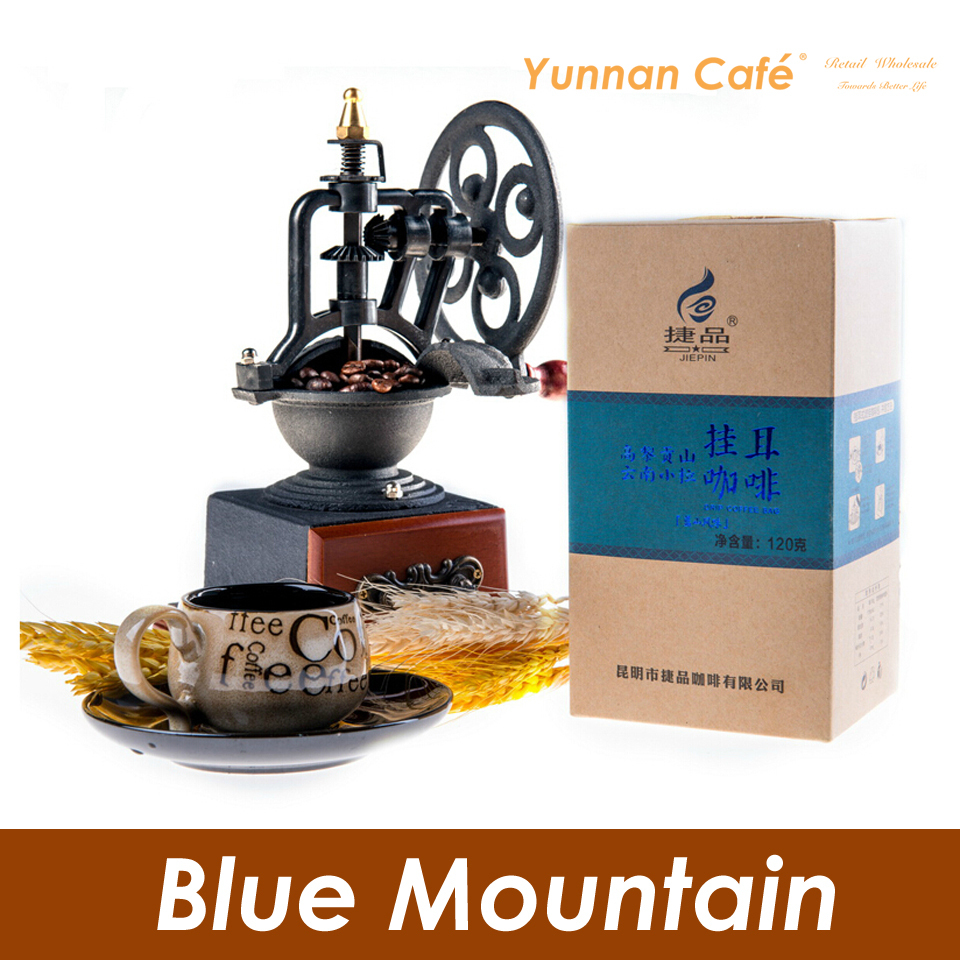 Free Shipping JiePin Drip Medium Roast Blue Mountain Flavor Black Coffee 12Gx10PCS 120G 0 26LB Global