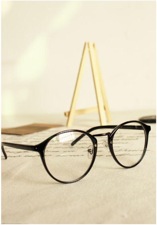2016 Fashion Eyeglasses Womens Glasses Frame Female Retro Full Frame Round Nerd Optik Eye Glasses For Women oculos de grau
