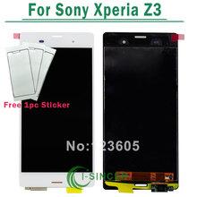 100% Испытанное Черный Белый ЖК-Экран Сенсорный Дигитайзер Ассамблеи Для Sony Xperia Z3 L55T L55U D6603 D6643 D6653 D6633(China (Mainland))