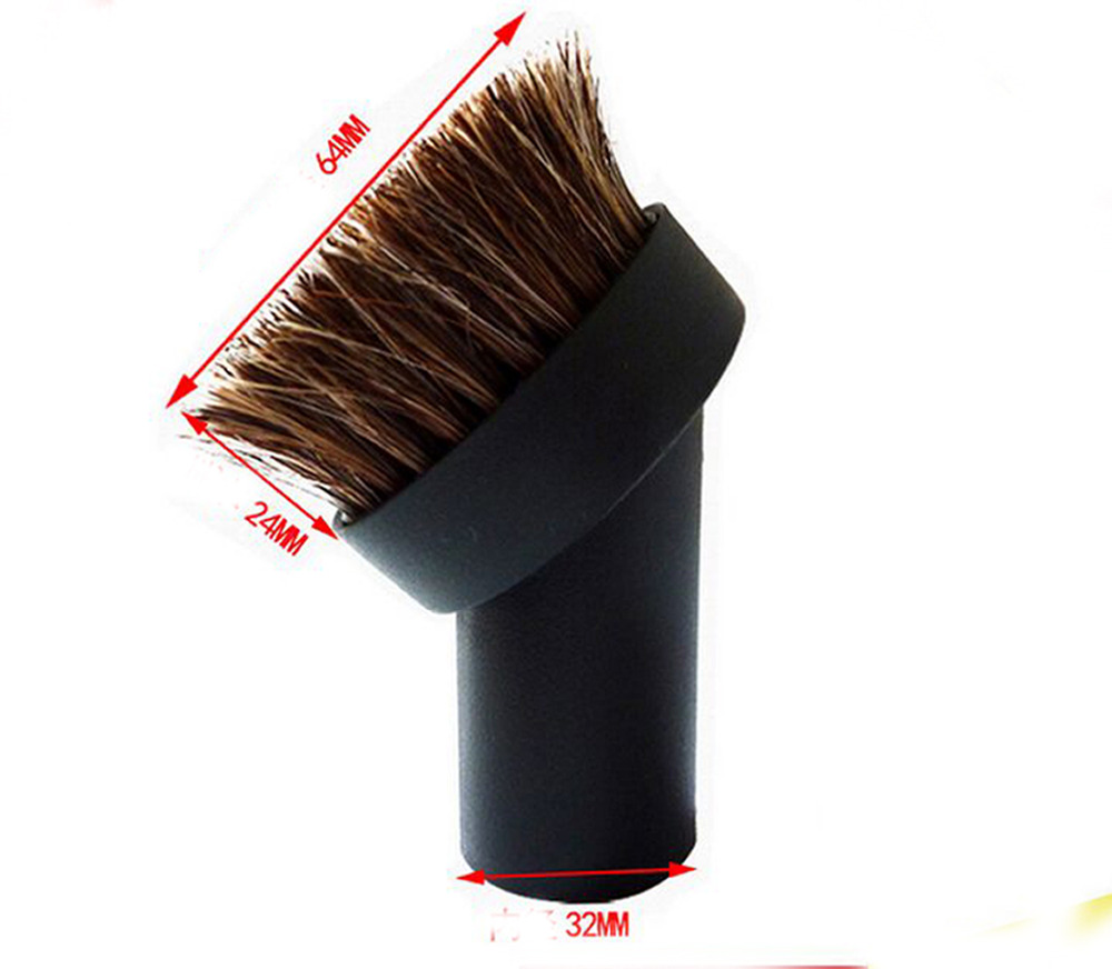 Horse Hair Round Dusting Brush Dust Tool Attachment fr Vacuum Cleaner Round 32mm(China (Mainland))