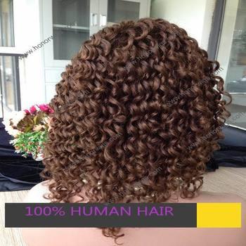 Горячие продажи нового стиля 16 inch человека темно-коричневый джерри curl полные парики шнурка женщин парик на складе быстрая доставка Africal curl