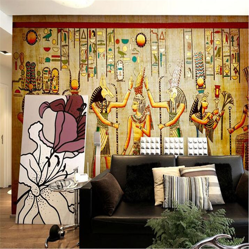 Compare prices on pyramid wallpaper online shopping buy for Egyptian mural wallpaper