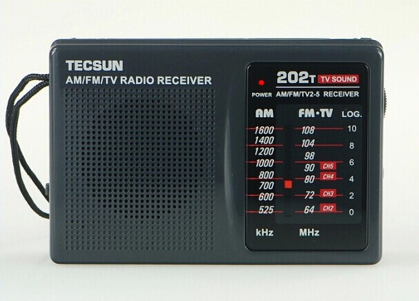 Alysea@ TECSUN R-202T FM/MW/TV Sound Portable Radio Receiver(China (Mainland))