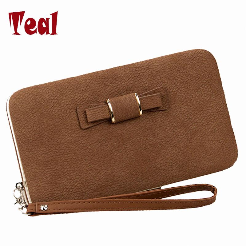 Women's purse brand money clip dollar price cartera women's purse designer wallets famous In longmobile phone packets bowknot de(China (Mainland))