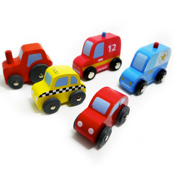x-5car Free shipping High quality wooden rail car New Educational Classic Toys for Children Birthday Gift 5pcs/lot(China (Mainland))