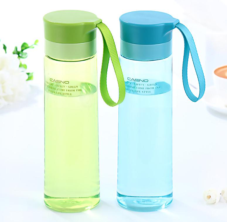 Retinue plastic cup sport water glass with lid & tea infuser & rope portable sports bottle lovers cup(China (Mainland))