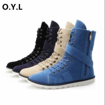 2015 высокое качество резиновая подошва мужчины сапоги осенние и зимние дни молния туфли-botas мужская стильная кружева и липучки обувь