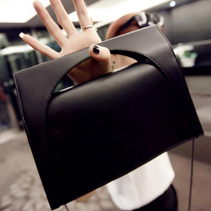 Women Ladies Handbag PU Leather Metal Chain Handle Satchel Purse Hobo Tote(China (Mainland))