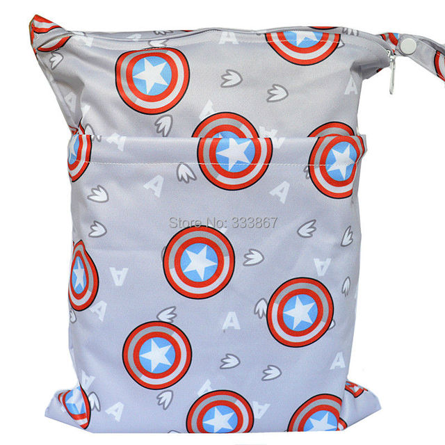 1 новинка мокрый / сухой сумка, С двумя молнии-ребенка пеленки мешок, Пеленки мешок, ...