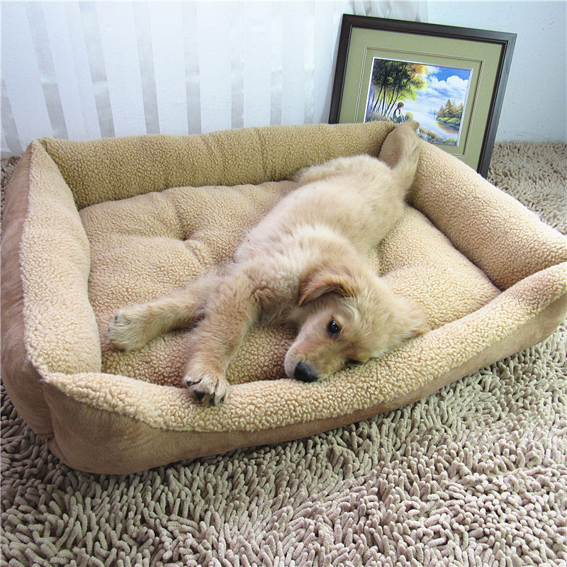 Soft Pet large Dog Bed Nest Bed Fleece Warm Warming House Luxury Kennel Plush Lamb cashmere bed pet dog Mats kennel Pet Supplies(China (Mainland))