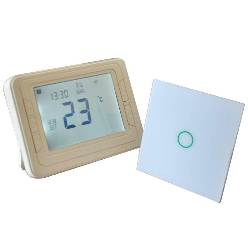 Compra wireless boiler thermostat online al por mayor de for Termostato caldera wifi
