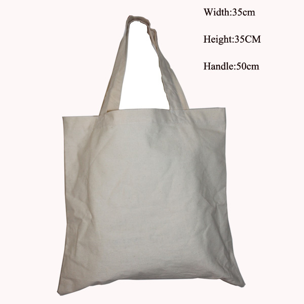 150g/m2 100% cotton (5pcs/lot) 35*35cm/13.7*13.7inch environmental cotton shopping bag organic tote bag hand length handle(China (Mainland))