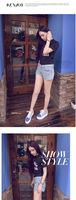 женщины осени платформ полосатый шнуровкой фланец работает кроссовки тренажерный зал студент мелочь досуг обувь s064