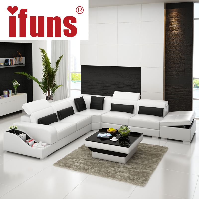 IFUNS l shape storage modern design genuine italian leather sectional sofa corner real italian chesterfield home furniture (fr)(China (Mainland))