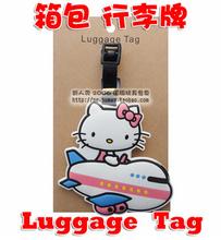 HELLO KITTY  MIX style PVC luggage tag / baggage tag / cute baggage claim tag / Travel Name Tag(China (Mainland))