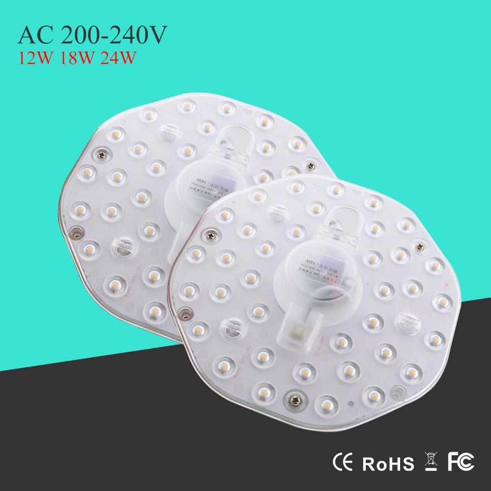 DIY LED Ceiling Light Moudle 220V 12W 18W 24W Energy Saving Light Bulb White Warm White for Living Room Ceiling Lights for Home(China (Mainland))