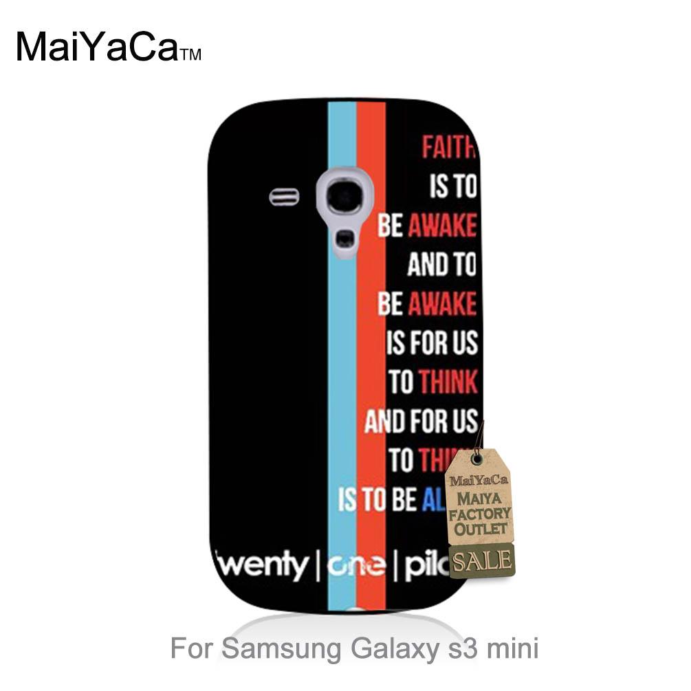 Lyrics Twenty One Pilots White Back Retro Protective PC Mobile phone case For case GALAXY s3 mini(China (Mainland))