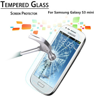 Premium 0.3mm 2.5D Tempered Glass Film Explosion Proof Screen Protector for Samsung Galaxy S3 mini Screen Protective Film