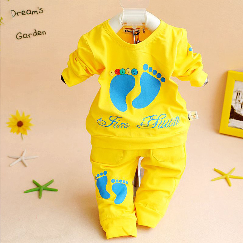 Hot sale clothing set casual baby girl clothes boys 100% cotton baby clothing high quality children suit brand outfits(China (Mainland))
