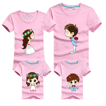 Family Matching Clothes Set Mother Father Baby Family Clothing Mom Father Son Daughter Clothes Summer Style Family Look T Shirt