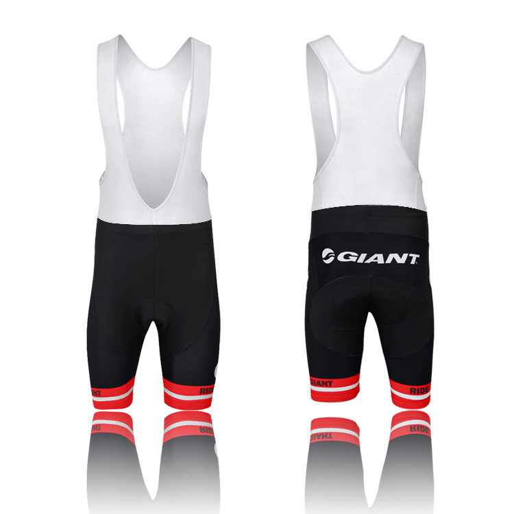Hot Fashion GIANT Cycling Clothing Bicycle Bike Wear With Bib /Shorts Black-red Free Shipping Size:S~XXXL