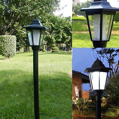 LED CAN BE USE 100,000 hours Outdoor Solar Power LED Path Way Wall Landscape Mount Garden Fence Lamp Light Lawn 1200mAh