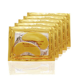 10pair High quality Gold Crystal collagen Eye Mask Hotsale eye patches(China (Mainland))