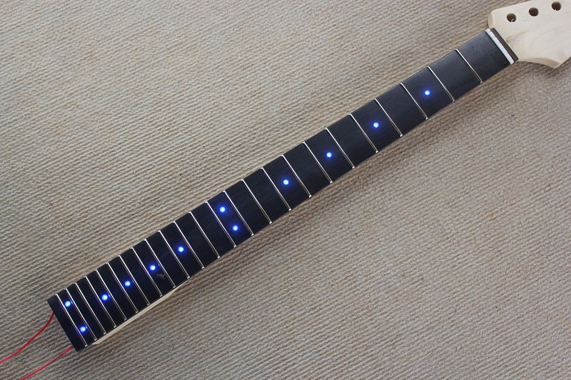 Inlay LED dots Rosewood Fretboard maple Electric Guitar Neck Guitar Parts guitarra musical instruments accessories