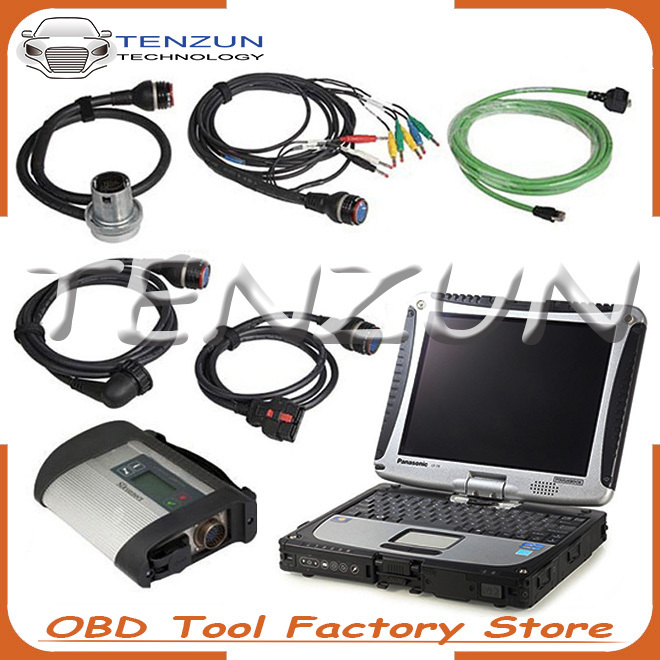 2016.07 diagnostic tool Mb star c4 sd connect with laptop Pansonic toughbook CF-19 software expert mode offline programming free(China (Mainland))