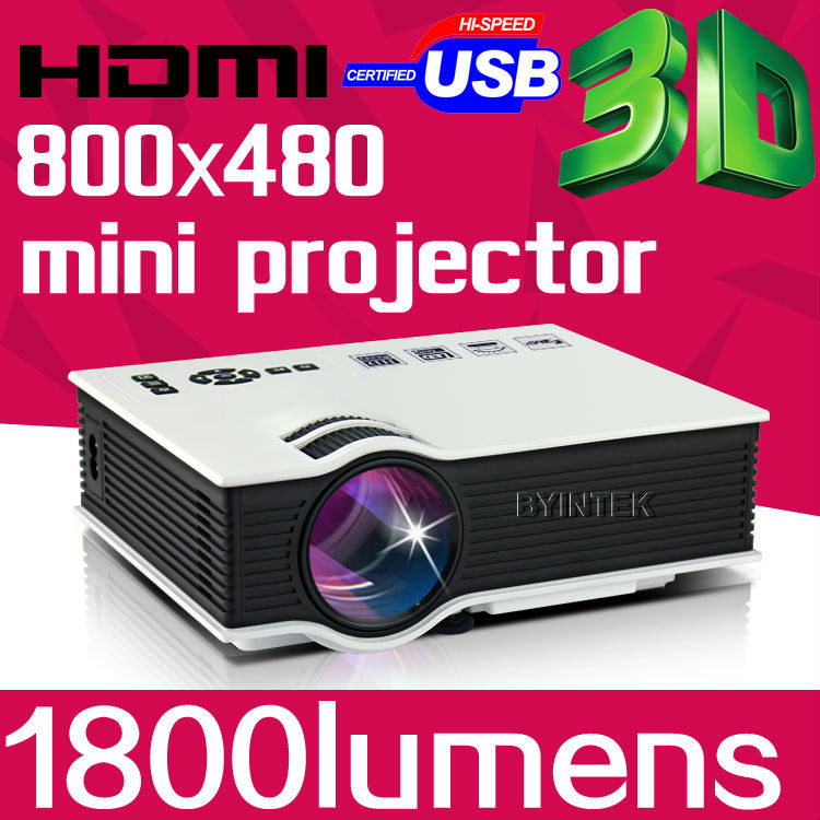 Byintek Mini Best Full HD 1080P Business Portable USB Home Theater Pico LCD LED Video Projector