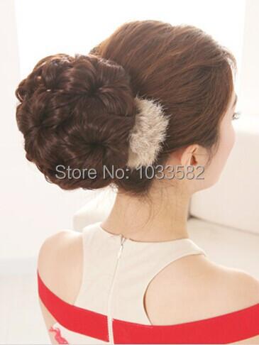 free shipping chignon 1pcs herpburn glamour bride hair bun