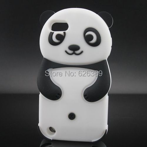 For iPod Touch 5 Cute Panda Silicone Skin Case Cover(China (Mainland))