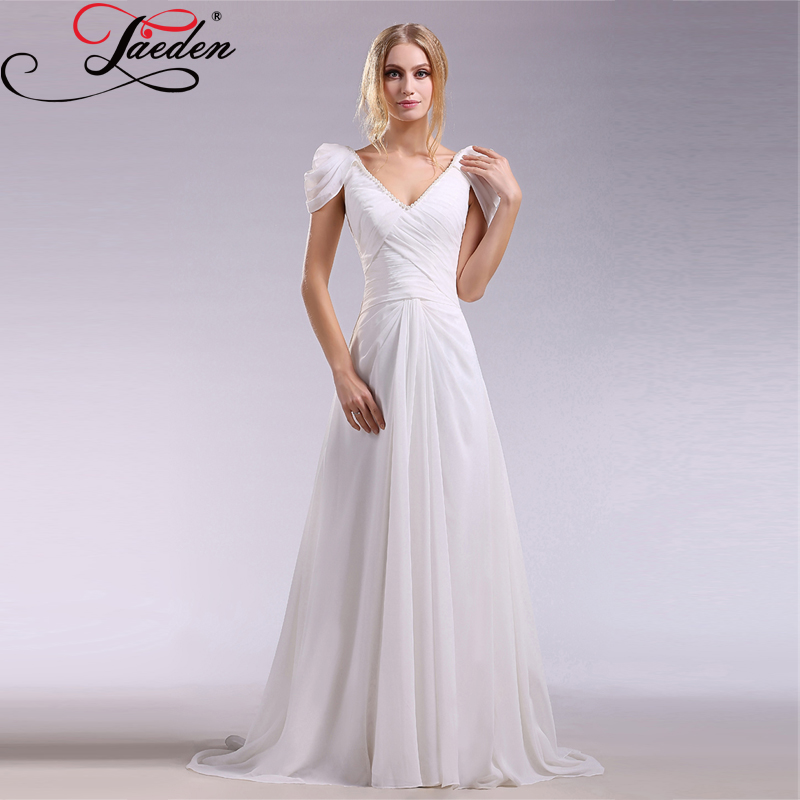 Short flowy wedding dresses reviews online shopping for Flowy wedding dress with sleeves