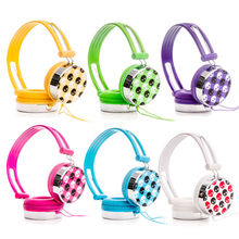 Rockpapa Skull Pattern Overhead Boys Girls Kids Childrens Teens Adult DJ Styles Headphones Headsets Earphones for iPod Phone